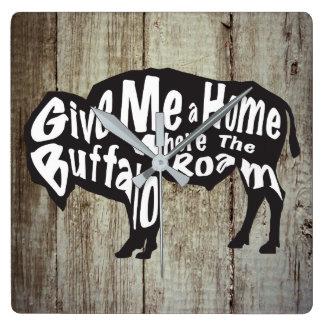 Déme un hogar en donde el búfalo vaga por el reloj