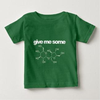 déme un poco de azúcar camiseta de bebé