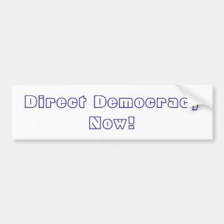 ¡Democracia directa ahora! Pegatina Para Coche