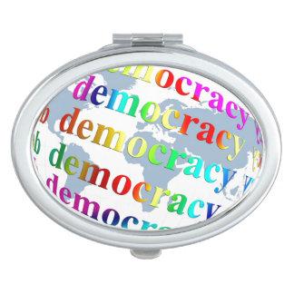 Democracia global espejo de maquillaje