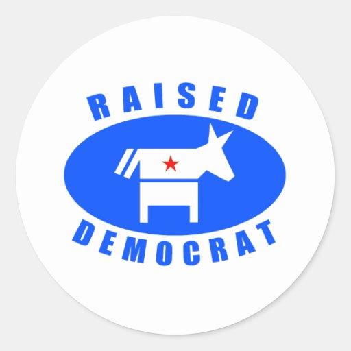 Demócrata criado etiqueta redonda
