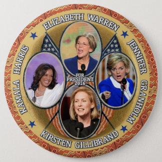 Demócratas para el presidente en 2016 chapa redonda de 15 cm