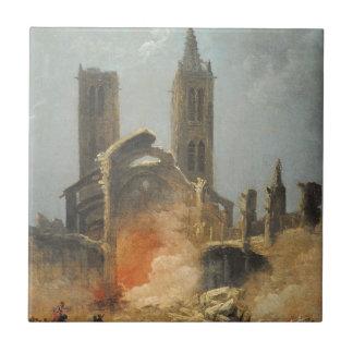 Démolition de l'église Santo-Jean-en-Grève - Musée Azulejo Cuadrado Pequeño