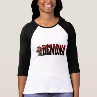 Demona 3/4 negro de la manga camiseta