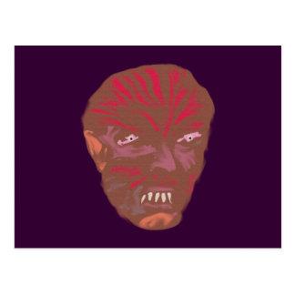 Demonio cara demon face tarjeta postal