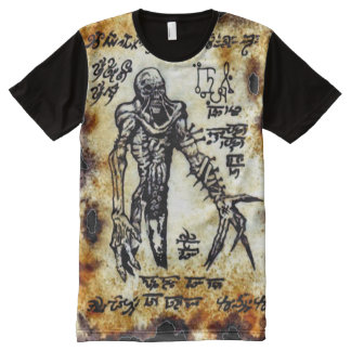 Demonio de Necronomicon Camiseta Con Estampado Integral