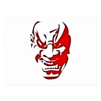 Demonio diablo cabeza cara demon devil head face tarjeta postal