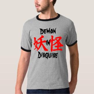 Demonio en el kanji de Yokai del disfraz Camisetas