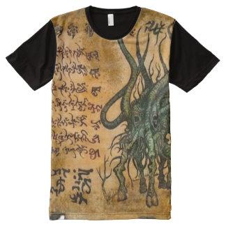 Demonio Magick de Cthulhu Camisetas Con Estampado Integral