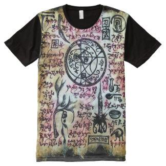 Demonio Magick de Necronomicon Cthulhu Camiseta Con Estampado Integral