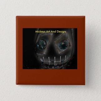 Demonio por el arte y el diseño de Mickeys Chapa Cuadrada