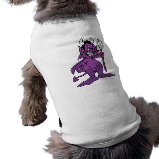 Demonio púrpura del dibujo animado ropa de perro de Zazzle.
