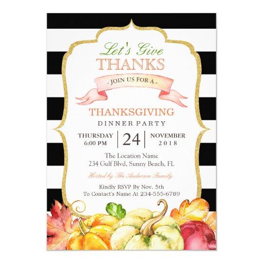 Demos el fiesta de cena de la acción de gracias invitación 12,7 x 17,8 cm