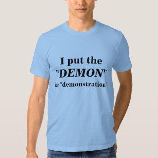 demostración camiseta