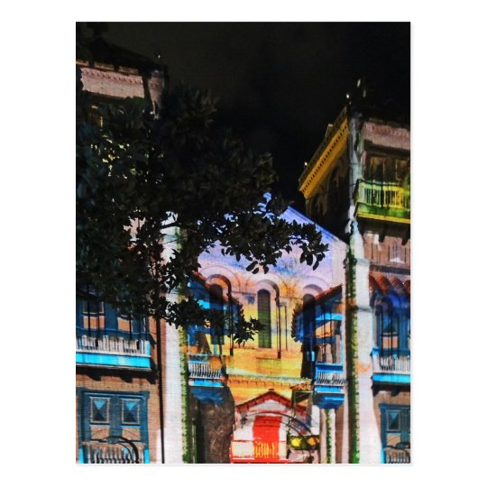 Demostración de la luz de navidad en Medellin Postal