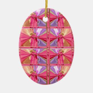 Demostración feliz del diamante del modelo de la adorno navideño ovalado de cerámica