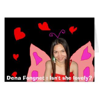 Dena Fongnet: ¿No es ella preciosa? Tarjeta