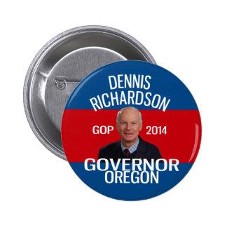Dennis Richardson para el perno del gobernador Chapa Redonda De 5 Cm