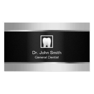 Dental negro del dentista y de plata profesional tarjetas de visita