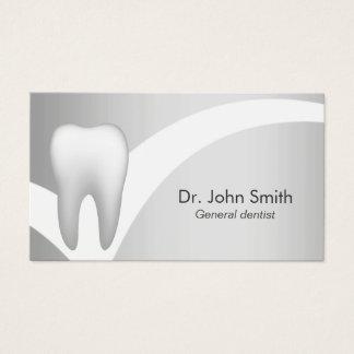 Dental profesional de plata Dentista-Moderno Tarjeta De Visita