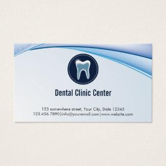 Dentista azul moderno de la cita dental tarjeta de visita