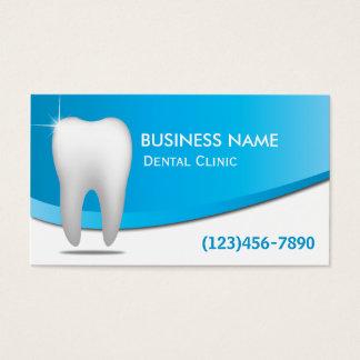 Dentista blanco moderno del cuidado dental de los tarjeta de visita