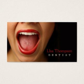 Dentista/clínica médica dental del rostro humano tarjeta de visita