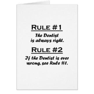 Dentista de la regla felicitacion