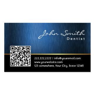 Dentista del código del azul real QR del cuidado Tarjetas De Visita