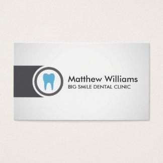 Dentista del logotipo del diente dental tarjeta de negocios