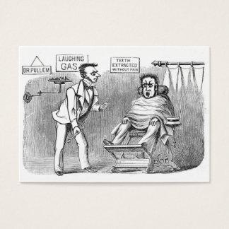 ¡Dentista del vintage, extrayendo los dientes sin Tarjeta De Negocios