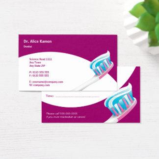 Dentista dental de la tarjeta el | de la cita
