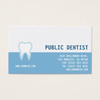 Dentista dental elegante de la clínica tarjeta de negocios