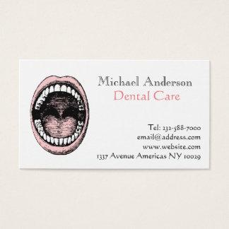 Dentista dental tarjeta de negocios