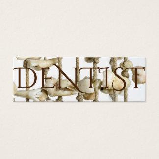 Dentista extraído fotografía dental divertida de tarjeta de visita pequeña