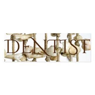 Dentista extraído fotografía dental divertida de tarjetas de visita mini
