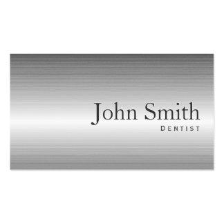 Dentista moderno del profesional del metal del tarjetas de visita