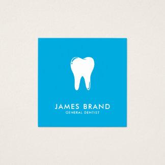 Dentista moderno tarjeta de visita cuadrada