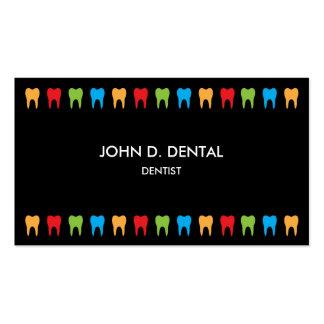 Dentista, negocio dental o tarjeta del perfil tarjetas de visita