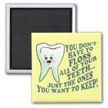 Dentista o higienista divertido imanes