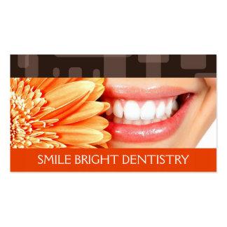 Dentista tarjeta de visita de la odontología