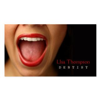 Dentista/tarjeta de visita dental tarjetas de visita