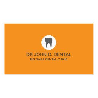 Dentista, tarjeta de visita gris dental con el log
