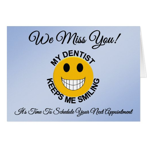 Dentista/tarjeta paciente dental del recordatorio