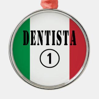 Dentistas italianos: Uno de Dentista Numero Adorno Redondo Plateado