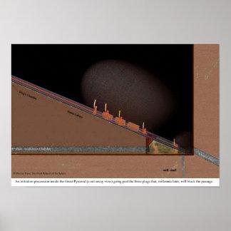 Dentro de la gran pirámide póster