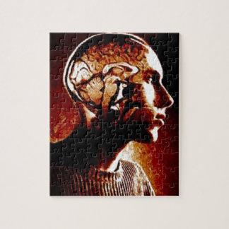 Dentro de mi cabeza, mostrando actividad cerebral puzzle