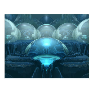 Dentro de una luna azul tarjetas postales