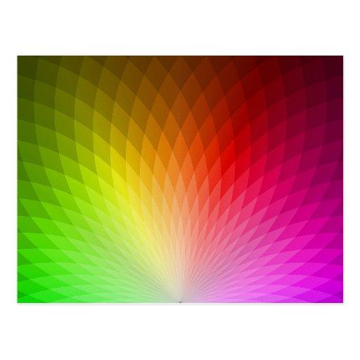 Dentro del arco iris (color 2) tarjeta postal