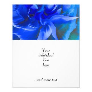 dentro del color de rosa azul folleto 11,4 x 14,2 cm